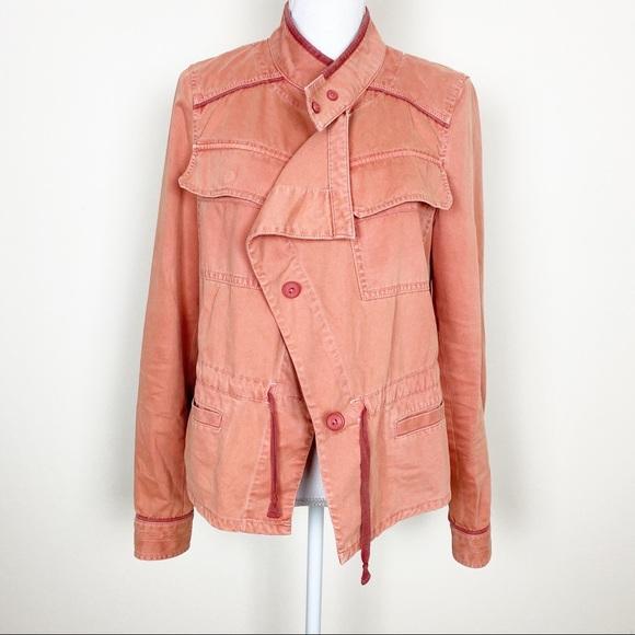 Anthropologie Jackets & Blazers - {Anthro} Hei Hei coral utility jacket